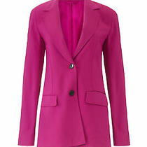 3.1 Phillip Lim Women's Blazer Pink Size 0 Two-Button Notched Crepe 695- 271 Photo