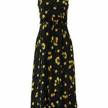 3.1 Phillip Lim Women's Dress Black Size 6 Sheath Printed v-Neck 795- 676 Photo
