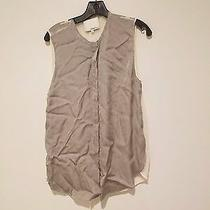 3.1 Phillip Lim Women's Silk Striped Button Shirt/vest - Size 8 Photo