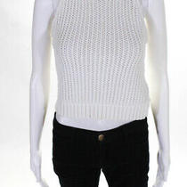 3.1 Phillip Lim Womens Cotton Chunky Knit Shell Vest White Size Extra Small Photo