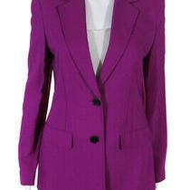 3.1 Phillip Lim Womens Fuchsia Tailored Two Button Blazer Purple Size 2 11625232 Photo