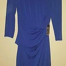3/4 Sleeve Blue Dress - Express - Size Small Brand New Never Worn Photo
