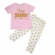 3-4 Years Big Sister Matching Clothes Kids T-Shirt Romperlong Pants Outfits Photo