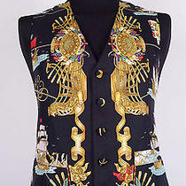 3.500 Very Rare Unique Hermes Vest Cardigan Jacket Coat 100% Silk Us 40 Eu 50 Photo