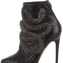 3.6k Barbara Bui Jeweled Gucci Snake Black Platform Ankle Boots 36.5 Balmain Photo