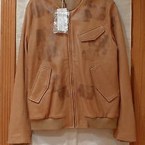 3860.k Maison Martin Margiela Tan Brown  Men's Leather Jacket Italy Size 52/42 Photo