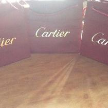 3 Authentic Cartier Gift Shopping Bags Photo
