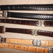 3 Brighton Leather Belts 2 Reversiblel Size Sm Gently Worn Photo