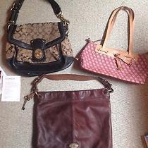 3 Coach Dooney and Bourke and Fossil Handbags/purses/rare 900 Value Photo