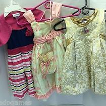 3 Dresses Dress Girls Girl Used Size 5 Youngland Disney Camilla Purse Adorable Photo