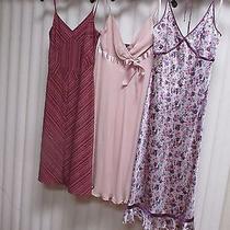 3 Express/esprit Spaghetti Strap Summer Dresses Size 2 Floral Striped Silk Photo