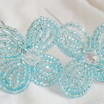 3 Hair Pins With Crystal Center Photo