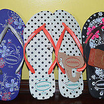 (3) Havaianas  Flip Flops Sandals. All Size 7/8 Photo