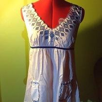 3 Items Embroidered Apron Tie Tunic Sundress Women's M and Express Cami Photo