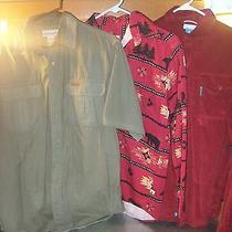 3 Outdoorsy Cotton Shirts - Carhartt Outdoor Life Columbia - Men Small Photo