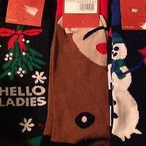 3 Pack Mens Holiday Christmas Crew Socks Nwt Size 6-12 Photo