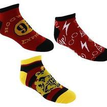 3 Pack Set Harry Potter Hogwarts Express 9 3/4 Crest Logo Juniors Ankle Socks Photo