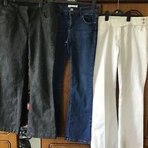 3 Pairs of Jeans Boot Cut Next Mantaray Size 14r Excellent Condition  Photo