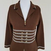 3 Pc Set St John Collection by Marie Gray- Santana Brown Jacket Skirt/pants Sz 2 Photo