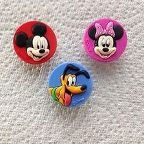 3 Pcs Mickey Mouse Shoe Charms Fits Crocs 3 Pc Mickey Minnie & Pluto Shoe Charms Photo