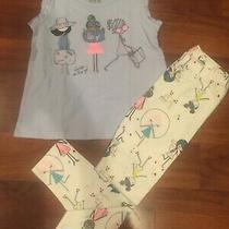 3 T Baby Gap Blue Shirt Top Ivory Leggings Toddler Outfit Girl Nwt Photo