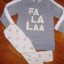 3 T Baby Gap Gray Fa La La Fur Tunic Top Legging Holidays Toddler Kids Girl Nwt Photo