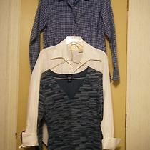 3 Womens Shirts 2 Size M 1 Pull Over Sz L - Gap - Country Seats - christie&jill Photo