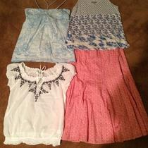 3 Womens Tops Old Navy and American Eagle One Gap Skirt Photo