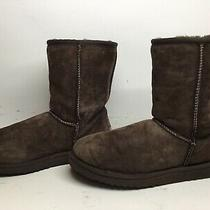3 Womens Ugg Australia Winter Suede Brown Boots Size 7 Photo