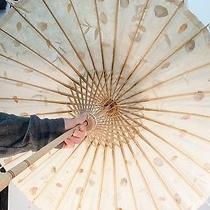 30 Parasol Leaves Natural Paper Wood Photo