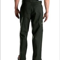 30 X 32 Dickies Mens Double Knee Style 85283 Loose Fit Black Pants Bottoms Photo