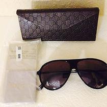 300 New Gucci Unisex Aviator Sunglasses Made in Italy Men / Women Photo