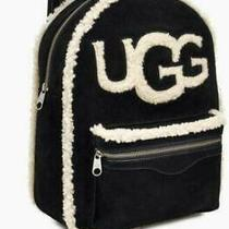 300 Ugg Boots Brand Dannie Backpack W/ Carry Bag Sheepskin Black Ar84 New Photo
