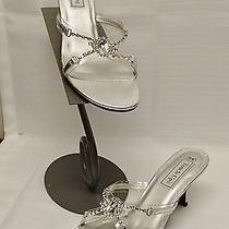3049 Touch Ups Tiffany Silver Metallic 7.5 Wedding Bridal Shoes Photo