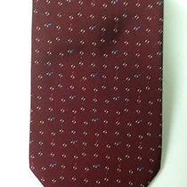 3078 Men's Yves Saint Laurent Wine Colored Printed Neck Tie  Photo