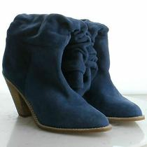 31-17 msrp194.95 Women's Size 10 Jeffrey Campbell Audie Blue Suede Slouchy Boot Photo