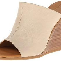 315 See by Chloe Anna-1 Natural Leather Wedge Mule Heel Shoes New 9.5 39.5 Photo