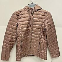 32 Degrees Heat Packable Puffer Coat Women Natural Blush Size S A63 Photo