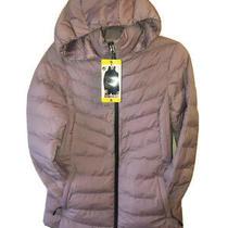 32 Degrees Heat Women's Hooded 4-Way Stretch Jacket Blush Pink  Small Size Photo