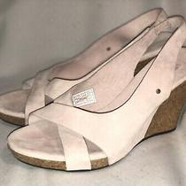 320-New Ugg- Hazel-3.5 Wedge/heels/sandals-Blush Pink Suede Leather-8.5 M Photo