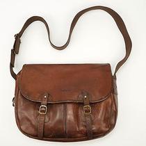 325 Barbour Tarras Brown Leather Shoulder Game Bag Photo