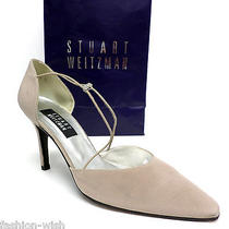 325 Stuart Weitzman Beige Evening Heels Size 9 Pumps Shoes Photo
