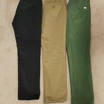 (32x30) Levi's 511 Chino 3-Pack Black/khaki/green Men's Slim Fit Pants Photo