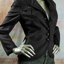 3300 New Akris Dark Brown Wool Cashmere Leather Wrap Button Cargo Jacket 38 8 Photo
