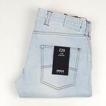 33014 Armani Jeans J20 Extra Slim Light Blue Men Jeans Size 33 Photo