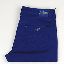 33016 Armani Jeans J74 Skinny Fit Pants Blue Men Jeans Size 30 Photo
