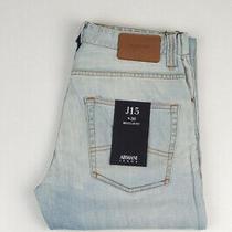 33027 Armani Jeans J15 Regular Fit Light Blue Men Jeans Size 30 Photo