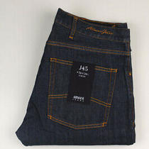 33038 Armani Jeans J45 Slim Fit Dark Blue Men Jeans Size 36/34 Photo