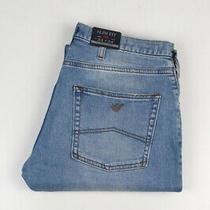 33045 Armani Jeans J45 Slim Fit Light Blue Men Jeans Size 33/34 Photo