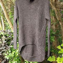335 New Nwt Helmut Lang Gray  Graphite Turtleneck Sweater  S Photo